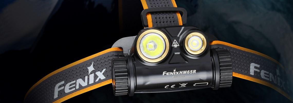 Lampe frontale Fenix HM65R, double faisceau, légère et endurante