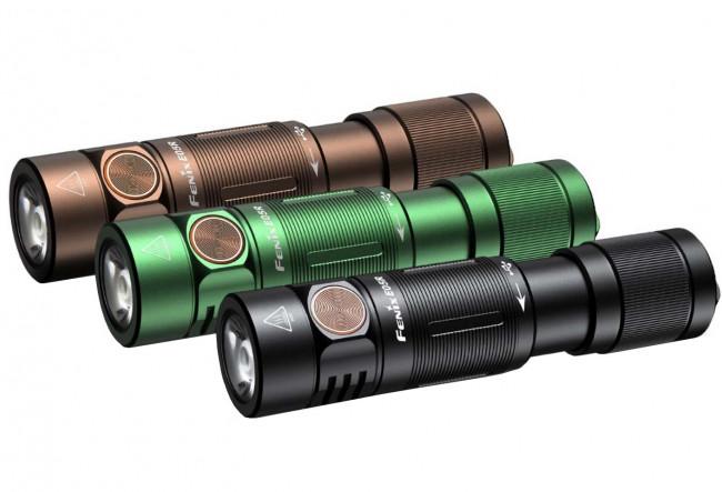 Fenix E05R marron lampe de poche porte-clés rechargeable