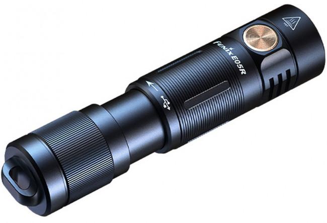 Fenix E05R noir Mini lampe de poche porte-clés rechargeable
