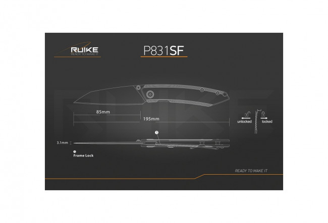 Ruike P831SF - Couteau 195 mm