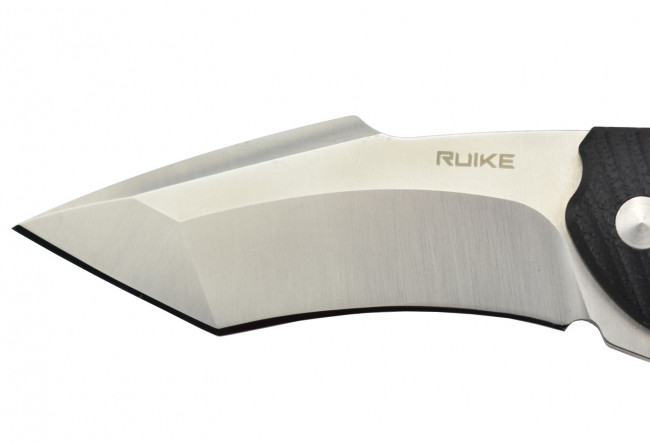 Ruike P851-B lame acier 14C28N manche G10