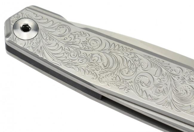 Ruike P875-SZ Couteau de poche en acier 14C28N et fibre de carbone