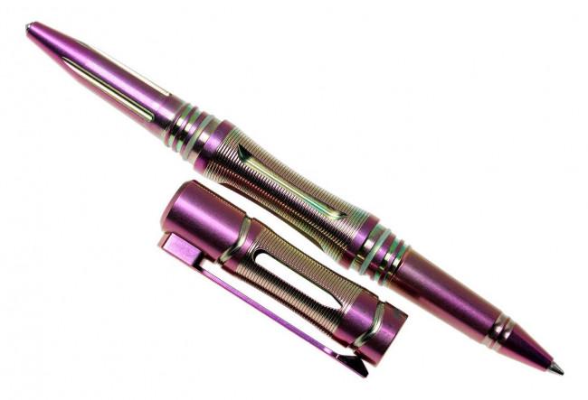 Fenix T5Ti Halberd Stylo tactique violet encre noire