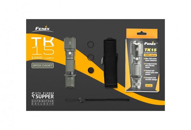 Fenix TK15UE Gris Lampe tactique - 1000 Lumens