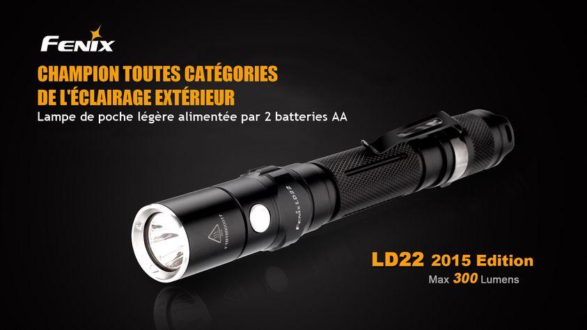 Fenix LD22 300 Lm Lampe de poche-Noir